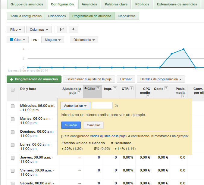 adjusting bids adwords